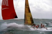 Winston powers up the Solent at 29 knots