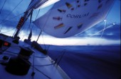 Night time navigation aboard Corum Admirals Cup yacht.