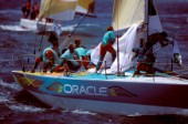 Teamwork on the RAF Admirals Cup yacht Oracle