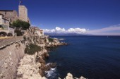 The coast around the French Mediterranean sea port of Antibes.