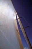Deatil of maxi yacht mainsail and mast