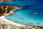 Aerial view of bay in Porto Cervo, Sardinia