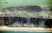 Effects of coastal erosion at St Katherines Point on the Isle of Wight, UK
