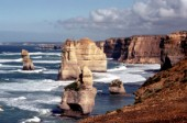 View of the Twelve Apostles rocks in Australia
