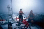 Volvo Ocean Race 2001-2002  Leg 1 - Southampton/Cape Town. A bordo di Amer Sports Too:  Eleanor Hay e Katie PettiboneVolvo Ocean Race 2001-2002  Leg 1 - Southampton/Cape Town. On board of Amer Sports Too: Eleanor Hay e Katie Pettibone.