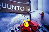Leg 4 - Auckland to Rio de Janeiro. Volvo Ocean Race 2001-2002. On board of Amer Sports One. Photo: Stefano Rizzi/