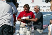 30/5/04 President of Grimaldi Ferrries presents his trophy to the top boat Thuraya
