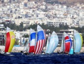 2004 OLYMPIC GAMES (PHOTO: LEO MASON):49er fleet