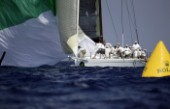 Rolex Maxi World Championship 2004 in Porto Cervo Sardinia.Pyewacket approaching the leeward mark.