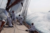 The classic yacht Eleanora during the Voiles de St Tropez 2004
