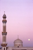Tower of mosque at sunset, Dubai - United Arab Emirates.