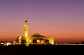 Mosque under colourful sunset sky, Dubai - MosqueUnited Arab Emirates.