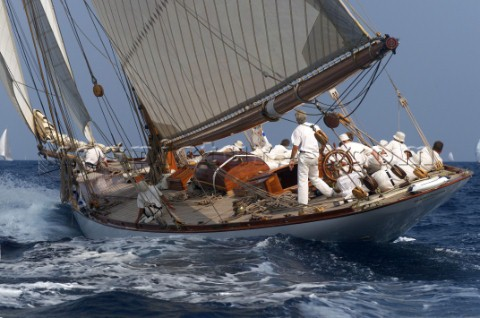 Classic yacht Mariquita at Vele d Epoca Di Imperia 2004