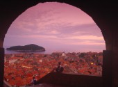 Dubrovnik old town seen from the Minceta Tower, Croatia