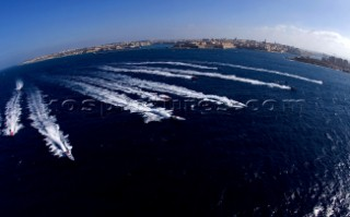 Powerboat P1 racing action from Malta 2005