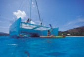 British Virgin Island - Caribbean -. Cruise on board of catamaran