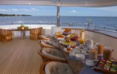 Aft deck on luxury superyacht