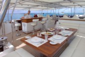 Aft deck of superyacht Felicita