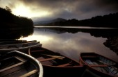 Wooden boats on Glen Affric, Scotland