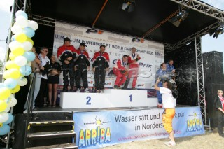 Prizegiving at the Powerboat P1 World Championships 2005 - Travemunde, Germany