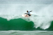 Jay Thompson of Australia competing at the Rip Curl Championship 2005