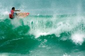 Travis Logies competing at the Rip Curl Championship 2005