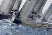 Porto Cervo, 13 09 2006. Rolex Swan Cup 2006. Fleet. . The Rolex Swan Cup is the principal event in the swan yacht racing circuit. For Editorial Use only.
