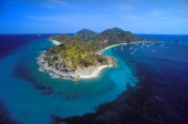 British Virgin Islands - Caribbean -. Aereal View of Cooper Island
