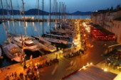 A busy evening along the waterfront in Saint Tropez
