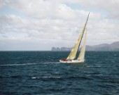 Wild Oats XI approaching Tasmania and the finish if the Rolex Sydney Hobart Race 2006