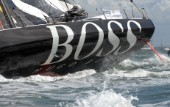COWES, ENGLAND - August 13th: Alex Thompson and Andrew Cape on the Open 60 Hugo Boss (UK)  Rolex Fastnet Race 2007