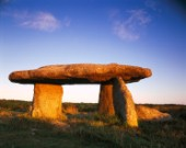 Lanyon Quoit is one of many such ancient formations in West Cornwall.