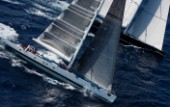Maxi Yacht Rolex Cup 2009 VISIONE, Sail n: GER 5200, Nation: GER, Owner: Hasso Plattner, Model: baltic 147,SAUDADE, Sail n: N/A, Nation: MLT, Owner: Albert Buell, Model: Wally