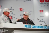 FEBRUARY 14TH 2010, VALENCIA, SPAIN: Alinghi press conference with Ernesto Bertarelli & Brad Butterworth at the 33rd Americas Cup in Valencia, Spain