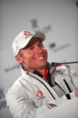 FEBRUARY 14TH 2010, VALENCIA, SPAIN: Alinghi press conference with Ernesto Bertarelli at the 33rd Americas Cup in Valencia, Spain