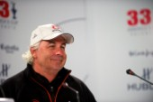 FEBRUARY 14TH 2010, VALENCIA, SPAIN: Alinghi press conference with Brad Butterworth at the 33rd Americas Cup in Valencia, Spain