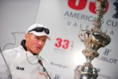 FEBRUARY 14TH 2010, VALENCIA, SPAIN: James Spithill  during the Press conference of the 33rd Americas Cup in Valencia, Spain