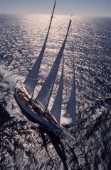 The Atlantic Challenge Cup 1997 presented by Rolex. Organised jointly by the New York Yacht Club and the Royal Yacht Squadron this superyacht race started from Ambrose Light (New York) and finished off The Lizard, Cornwall, UK.