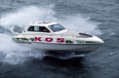 Kos Interceptor powerboat at speed