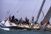 Atlantic Privateer during the Whitbread Round the World Race 1986 (now known as the Volvo Ocean Race)