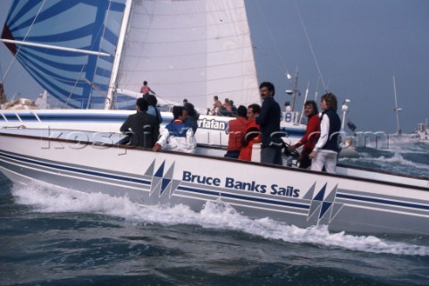 Bruce Banks Sails powerboat during the Whitbread Round the World Race 1986 now known as the Volvo Oc