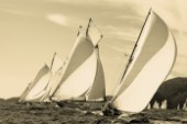 Sepia of classic yacht