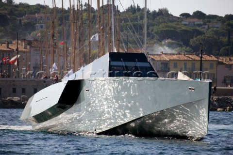 SAINTTROPEZ FRANCE  October 5th The incredible Wallypower 118 powerboat of Monaco owned by Italian e