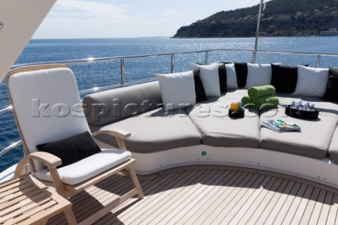 Sundeck of a superyacht