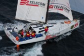 TELECOM ITALIA, Sail Number: ITA55, Owner: Giovanni Soldini, Design: Class 40  approaching Scilly Island