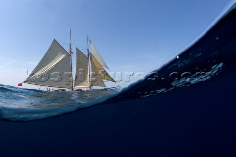 The classic sailing yacht Invader sailing