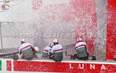 Naples Italy 11042012  Americas Cup World Series Naples 2012  AC45 Luna Rossa on Day 1