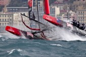 Naples (Italy), 11/04/2012  Americas Cup World Series Naples 2012  AC45 Emirates Team New Zealand ETNZ on Day 1