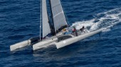 PARADOX, Sail n: CAY1, Boat Type: irens, Skipper: Peter Aschenbrenner (co skipper. Jeff Mearing), Country: United States of America passing San Vito lo Capo