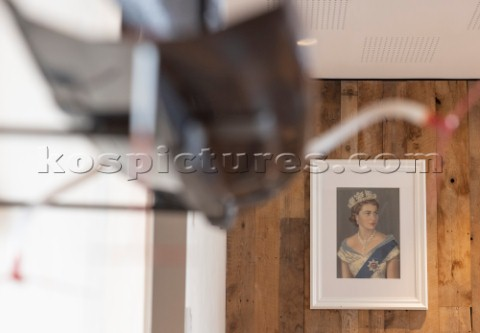 Portrait photo of Her Majesty The Queen in the RNZYS Royal New Zealand Yacht Squadron